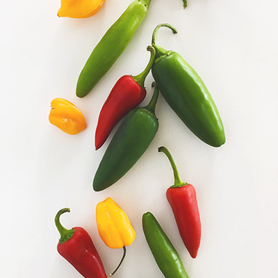 Highlighting hot peppers